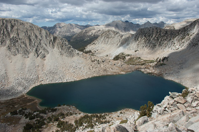 Golden Lake and the Mono Creek drainage from Half Moon Pass.