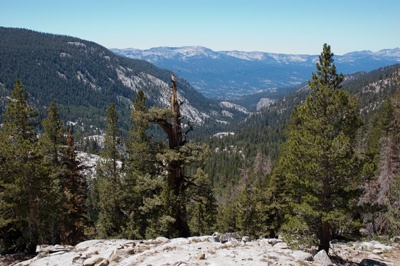Bear Creek watershed southwest from the John Muir Trail.