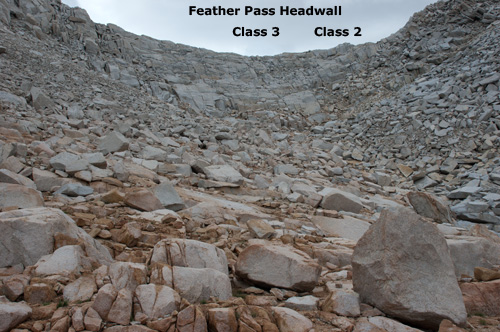 Feather Pass Headwall