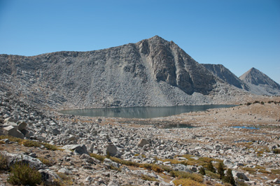 Star Lake cirque from below the Rust Lake saddle.